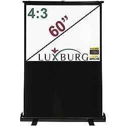 Luxburg® Mobile Tapis Toile de Fond Toile 122x 91cm (Diagonale env. 60pouces/153cm) Full HD 3D Écran de Projection Portable, Surface mattweiße, modèle 2015