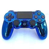 YUN GAME@ PS4 Controller Hülle Gehäuse Obere Case Schutzhülle Soft Touch für Playstation 4 PS4 Pro Blauer Spiegel -