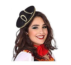 Atosa-58972 Mini Sombrero Mexicano, color negro, única (58972)