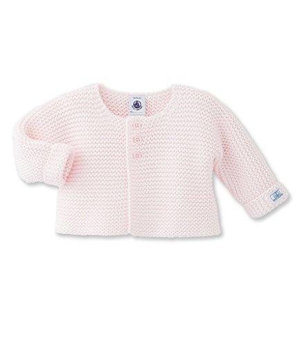 Petit Bateau Baby-Mädchen Strickjacke Cardigan Vienne 2466918, Rosa (Vienne 18), 80 (Herstellergröße: 12m/74cm) (Rosa Strickjacke Wolle)