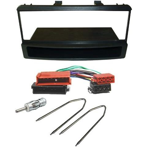 Watermark #6145S2# - Conjunto de radio integrada (marco+ cable adaptador para FORD Fiesta, Focus, Puma, Escort, Cougar, Scorpio, Transit, Tourneo, Ranger Maverick)