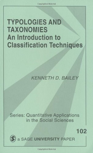 BAILEY: TYPOLOGIES AND TAXONOMIES (PAPER): AN INTRODUCTIONTO CLASSIFICATION TECHNIQUES: An Introduction to Classification Techniques