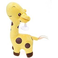 SODIAL(R) Juguete de munecas de animales de jifara marionetas de juego para los nino fiestas de los ninos juguete de Narracion de cuentos (Amarillo) 18CM