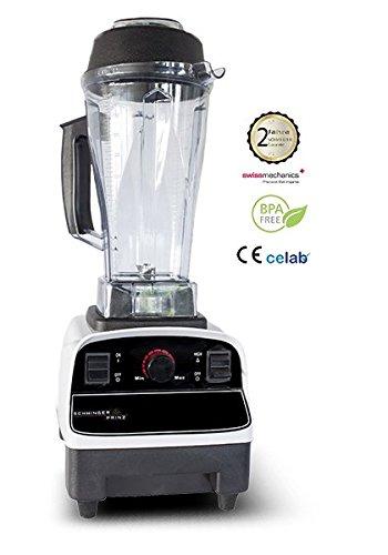 Schwingerprinz Hochleistungs Mixer, Kaffeemühle, Eiscrusher, Smoothiemaker 31000 u/min, 1390W + Behälter + Stössel Eis-block-maker