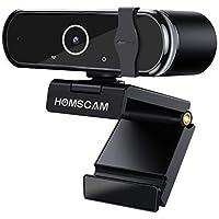HOMSCAM Webcam 1080P Full HD con Autofocus, Microfono Stereo per Videochiamate, Studi, Registrazione e Giochi…