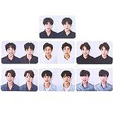 CAR-TOBBY KPOP BTS Bangtan Boys Love Yourself - Álbum de Fotos Transparente con Tarjeta de PVC y Tarjeta de Fotos de Lomo 1 uds. por Paquete