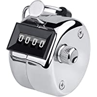 LUPO Hand Tally Counter 4 Digit Hand Held Golf Manual Number Counter Scorer Mechanical Palm Clicker