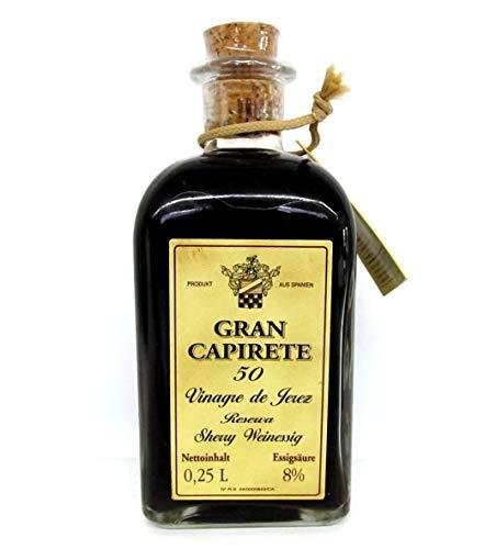 Gran Capirete, Sherry Essig, Weinessig, 8% Säure, 50 Jahre alt, 250ml.