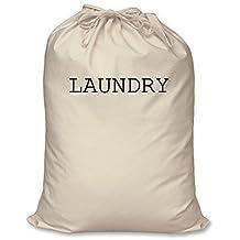 Bolsa de la colada, 100% algodón natural, organización doméstica, cesto para la ropa sucia, L 60 cm x 76 cm