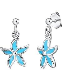 Rafaela Donata - Puces d'oreilles fleur - Argent sterling 925, boucles d'oreilles, bijoux en argent - 60903060