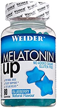 JOE WEIDER VICTORY Melatonine Up, 60 gummies, Sabor Blueberry, 1 mg de melatonina por gominola, Sin gluten y s