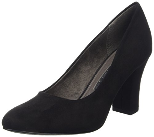 Tamaris Damen 22416 Pumps Schwarz (BLACK SUEDE 004)