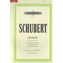 Lieder, Band 1 / Neue Ausgabe / URTEXT: Mittlere Singstimme / (für Gesang und Klavier)