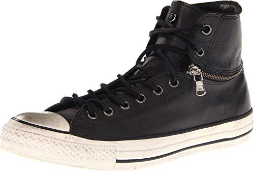 Converse John Varvatos Chuck Taylor Unisex Zip Hi Lo Black Leather 132836C (Men's 13 / Women's 15) (Schuhe John Varvatos)