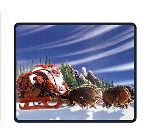 vbndfghjd Sleigh Santa Christmas Mouse Pads Rubber Backing Custom Mousepad -