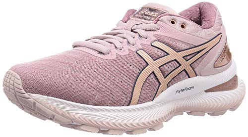 Asics Womens Gel-Nimbus 22 Running Shoe, Watershed Rose/Rose Gold, 39.5 EU