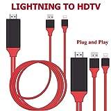 Blitz Zu HDMI-Kabel, Blitz Zu HDMI1080P HDMI-Video-AV-Kabel-Verbindungs-Umwandlungs-Schirm-Gerät HDTV-Projektor-Adapter-Kabel 6.5FT Für iPhone X / 8/7/6/5 / iPad Reihe