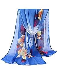 Foulard En Mousseline De Soie Été Des Printemps Femmes Printemps A Volé  Vêtements Chics Foulard De Plage De Sable Châle Élégant Châle… 8405b95e522