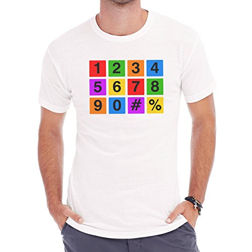 Number Math Symbol Calculus Equations Numbers One Seven Six Herren T-Shirt Weiß