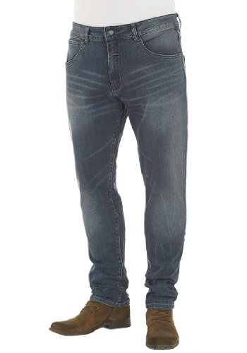 Solid Herren Relaxed Jeans - Frank stretch Blau