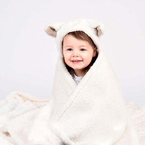 Little Miracles Animal Umarmungen Collection Kinder 100% Polyester Lamm Decke mit Kapuze & Plüsch Set Matratze Sealy Queen