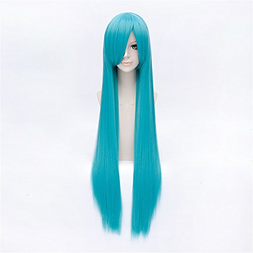LanTing Fairy Tail Bisca Mulan Blue Long Styled Woman Cosplay Party Fashion Anime Wig (Mulan Kostüme Frauen)