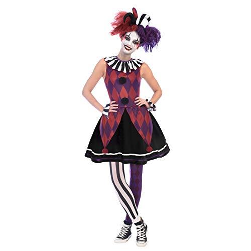 Harlekin Kostüm Damen - Amscan Herzensbrecherische Harlekin-Dame Närrin Harlekin Halloween Kostüm Damen
