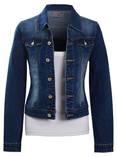 SS7 Damen große Größen Stretch Jeansjacke