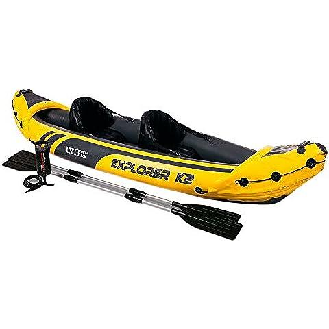 Intex 68307np Canoa Explorer K2 con remi alluminio, 2 persone