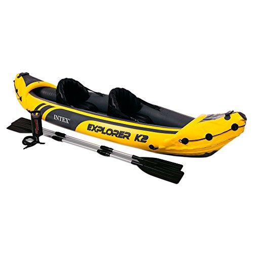 41o6qLb03NL. SS500  - Intex Explorer K2 Kayak, 2-Person Inflatable Kayak Set with Aluminum Oars and High Output Air Pump