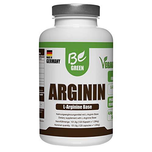 BeGreen L-Arginin 120 Kapseln | Vegan | Hochdosiert: 4400mg pro Portion | Hergestellt in bio-zertifizierten Unternehmen