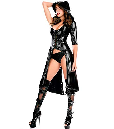 SHANGLY Catwoman Latex Catsuit Sexy Club Nocturno Disfraz DS Jazz...