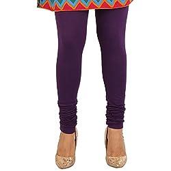 27 Ashwood Womens Cotton Lycra Leggings (27WSL1006_Violet_Large)