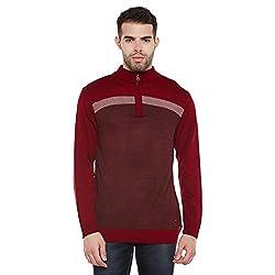 Duke Men Casual Sweater 1968078031 Cranberry Coloured X-Large