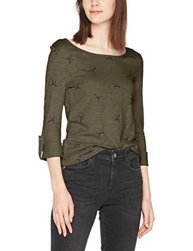 ONLY Damen T-Shirt Onljess Crane 3/4 Top Jrs Grün (Kalamata/Black Cran)