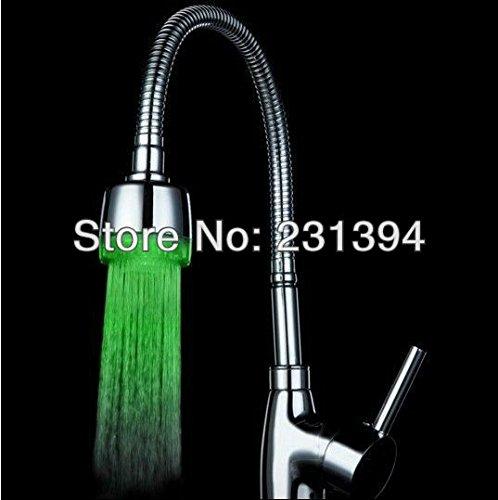 Unique Vert Couleur : Cy8001-a11 ABS Eau Stream 3 couleurs LED lumineuse robinet robinet Light + adaptateur Capteur de température LED pommes de douche