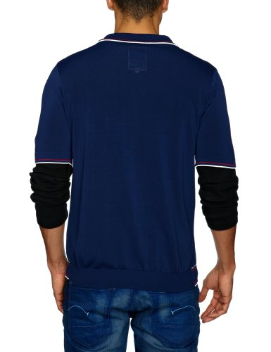 G-STAR Herren Strickjacken Blau - Bleu (Navy)