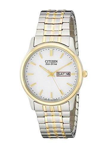 Citizen BM8454-93A - Reloj de cuarzo para hombre, correa de acero inoxidable