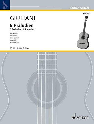 Preludien(6) Opus 46 (E.) Guitare