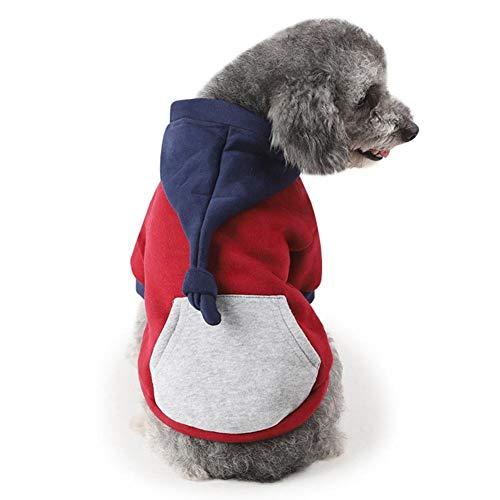 Bluelucon Hunde Haustier Katze Hund Pullover,Kleine Welpen Haustier Hund Katze Kleidung Hoodie Winter warme Pullover Mantel Kostüm - Kostüm Für Ihr Haustier Katze