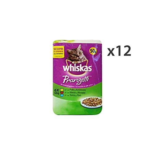 set-12-whiskas-pranzetti-6-buste-pollo-manzo-tonno-ae14t-la-nourriture-pour-chats
