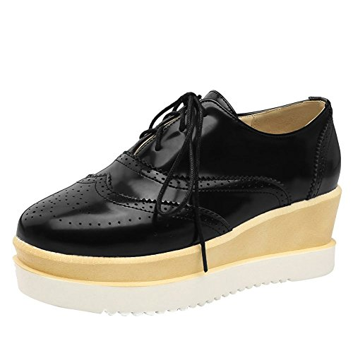 Chaussures MissSaSa Femmes Escarpins Bout Derbies Noir Ronde zqRAP6qx