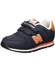 New Balance KV500BOI - Zapatillas deportivas para niños, color azul marino / naranja / blanco, talla 21