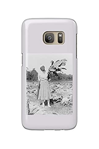 Black Woman Holding Tobacco Leaf Photograph (Galaxy S7 Cell Phone Case, Slim Barely There)