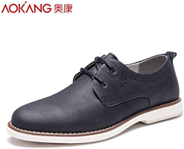Zapatos de hombre Aemember Chun Young-Thick 风 ,39, fondo plano zapatos negro claro
