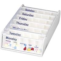 Anabox Medikamentendosierer für 1 Woche, Weiß preisvergleich bei billige-tabletten.eu