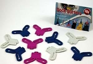 80 Pièces Trieuse de chaussette , Sockenclips , Clips de Chaussettes Chaussettes Support Supports idéal helper , plus jamais Chaos