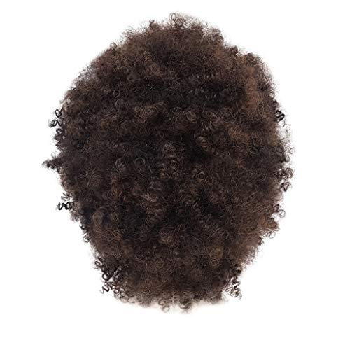 fro Kurz Hair Curly Lockige Short Locken Synthetic Cosplay Wavy Anime Human 80Er ()