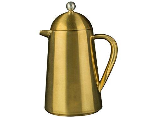 La Cafetiereère Thermique Kaffeebereiter, Isoliert, französische Kaffeepresse, Edelstahl, Brushed Gold, 3 Tassen