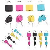 ROYALS Multicolor Luggage Lock (Set of 4)